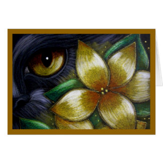 BLACK CAT - GOLDEN FLOWERS CUSTOMIZE CARD Card