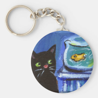 Black Cat goldfish Keychain