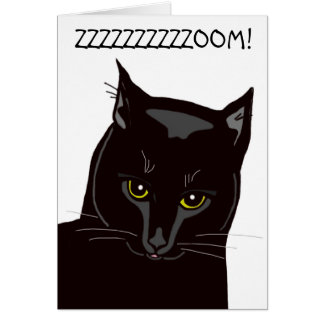 Black Cat Gotcha Day Card