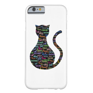 Black Cat Grafitti Barely There iPhone 6 Case