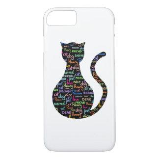 Black Cat Grafitti iPhone 7 Case