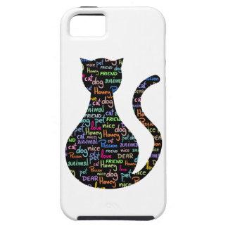 Black Cat Grafitti iPhone SE/5/5s Case