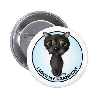 Black Cat - Grandcat Button