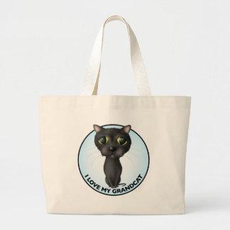 Black Cat - Grandcat Large Tote Bag