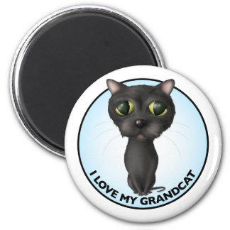 Black Cat - Grandcat Magnet