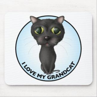 Black Cat - Grandcat Mouse Pad