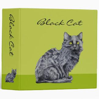 Black Cat green Avery Binder