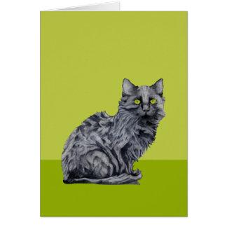 Black Cat green Card