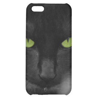 Black Cat Green Eyes Iphone Case iPhone 5C Cases