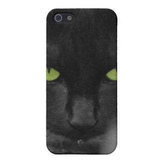 Black Cat Green Eyes Iphone Case
