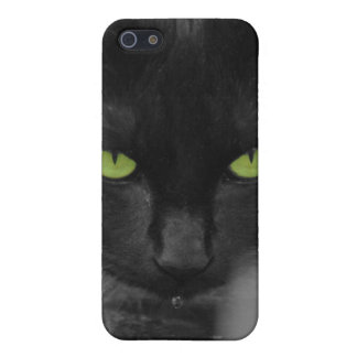Black Cat Green Eyes Iphone Case Case For iPhone 5