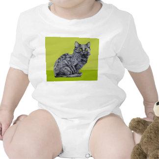 Black Cat green Infant T-shirt