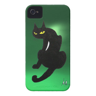 BLACK CAT  green iPhone 4 Cover