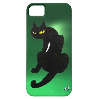 BLACK CAT  green iPhone SE/5/5s Case