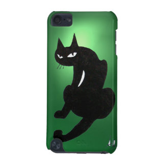 BLACK CAT green iPod Touch 5G Cover