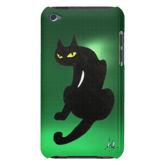 BLACK CAT  green iPod Touch Case-Mate Case