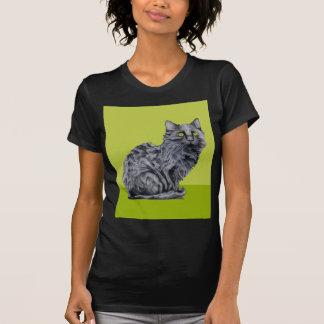 Black Cat green Ladies T-shirt