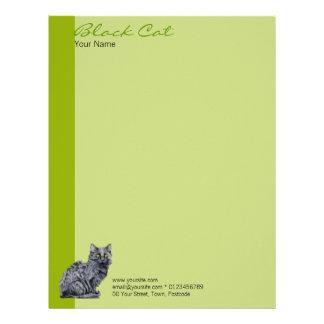 Black Cat green Letterhead