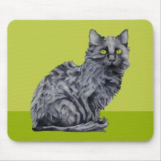 Black Cat green Mousepad