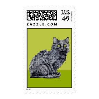 Black Cat green Postage