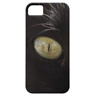 Black cat green yellow eye photography iPhone SE/5/5s case