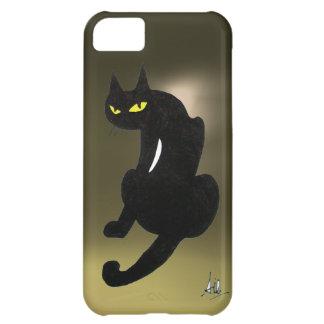 BLACK CAT grey Case For iPhone 5C