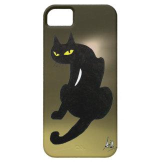 BLACK CAT grey iPhone SE/5/5s Case