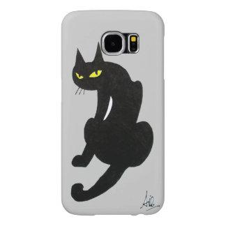 BLACK CAT grey Samsung Galaxy S6 Case