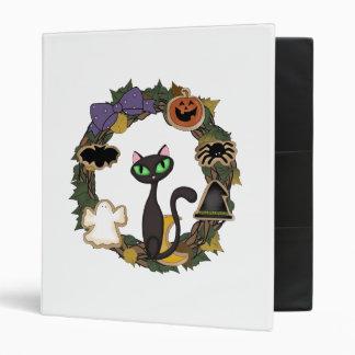 Black Cat Halloween 3 Ring Binder