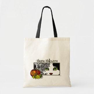 Black Cat Halloween Budget Tote Bag