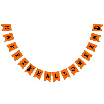 Halloween Themed Black Cat Halloween Bunting Banner