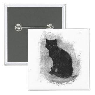 Black Cat Halloween Button
