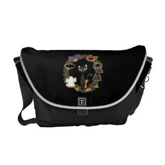 Black Cat Halloween Courier Bag