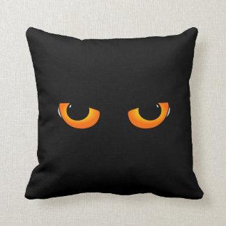 Black Cat Halloween Decorations Throw Pillow