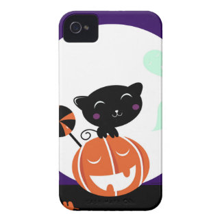 Black cat halloween edition iPhone 4 Case-Mate case