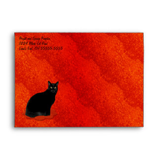Black Cat Halloween Envelopes
