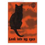 Black Cat Halloween Greeting Card