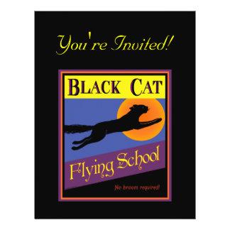 Black Cat Halloween Invitation Custom Flyer