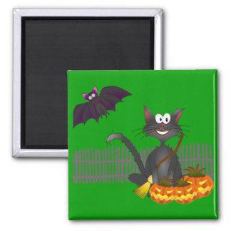 Black Cat Halloween Magnet