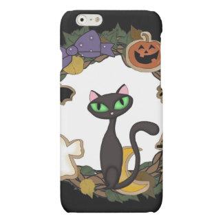 Black Cat Halloween Matte iPhone 6 Case