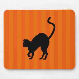 Black Cat Halloween Mousepad