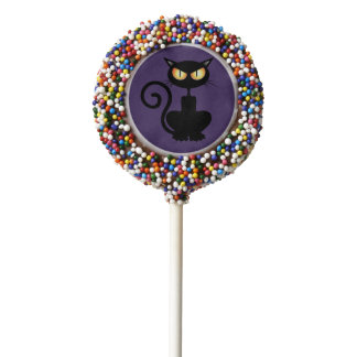 Black Cat Halloween Oreo Cookie Pop