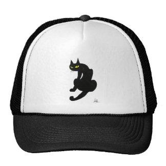 BLACK CAT HALLOWEEN PARTY TRUCKER HATS
