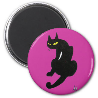 BLACK CAT HALLOWEEN PARTY MAGNET