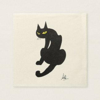 BLACK CAT HALLOWEEN PARTY NAPKIN