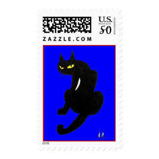 BLACK CAT HALLOWEEN PARTY POSTAGE
