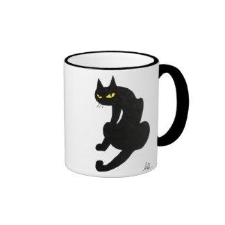 BLACK CAT HALLOWEEN PARTY RINGER MUG