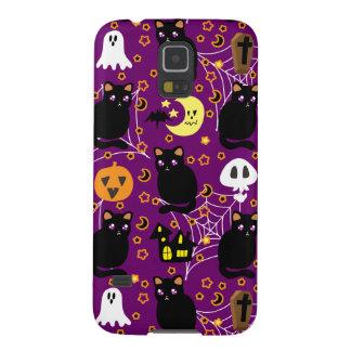 Black Cat Halloween Pattern Case For Galaxy S5