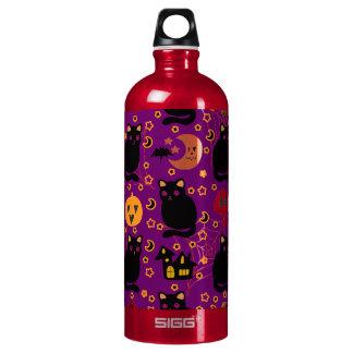 Black Cat Halloween Pattern SIGG Traveler 1.0L Water Bottle