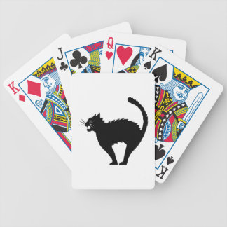 Black Cat Halloween Playing Cards